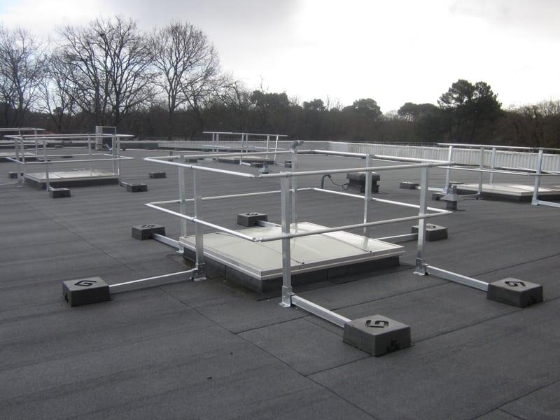 Garde corps de terrasse et Rambarde de sécurité pour toiture
