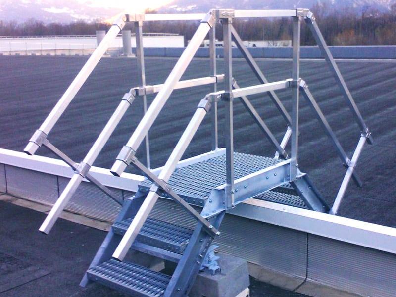 toiture plate sécurisée avec une solution antichute