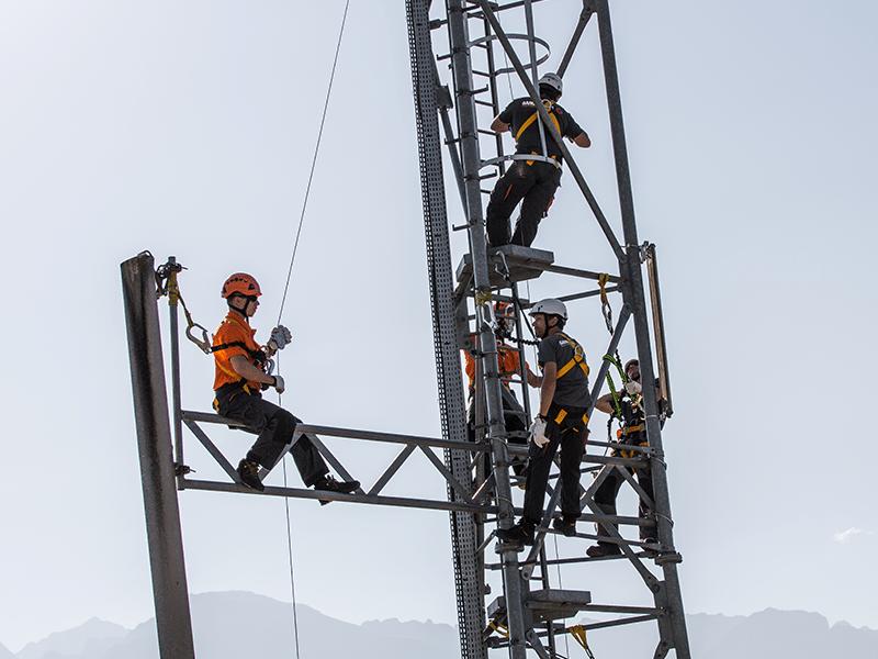 travail sur pylone telecom