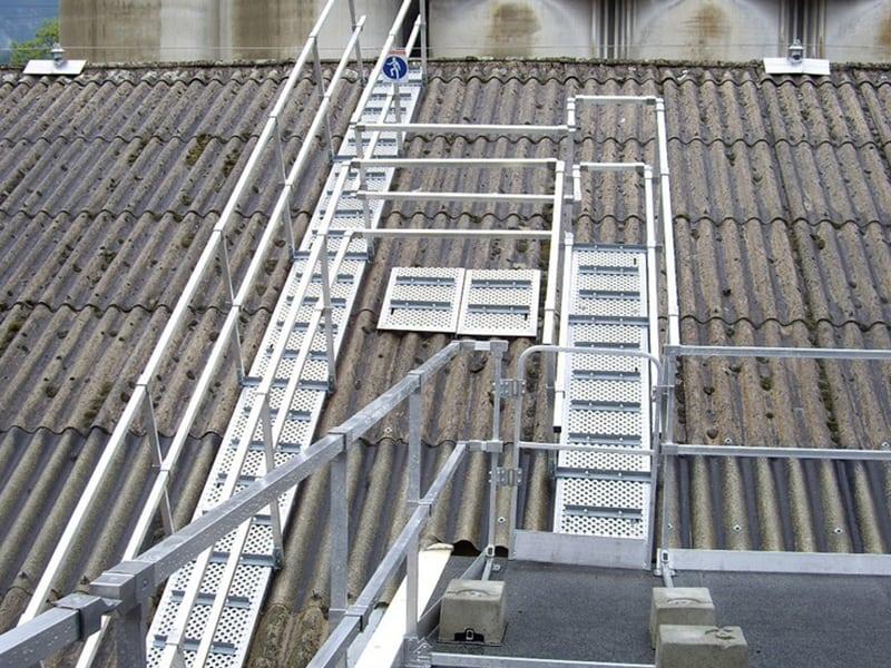 patelage de sécurité sur toiture pente