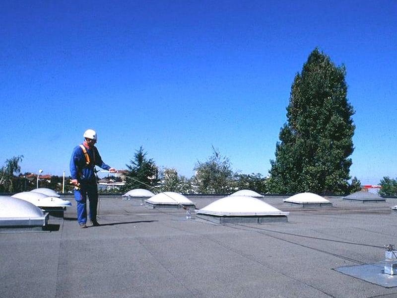 ligne de vie cable sur toit plat
