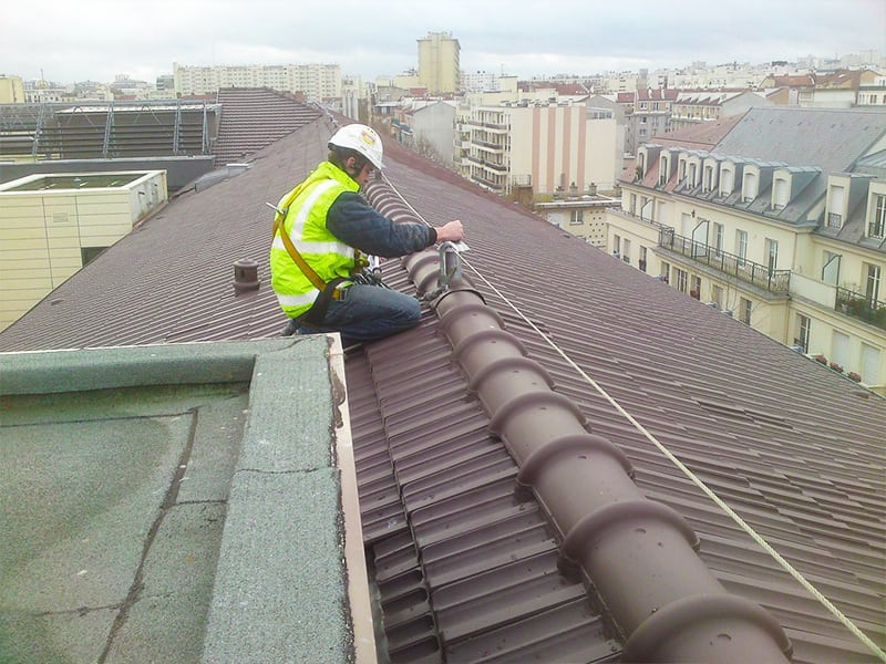 accès sur toiture en sécurité