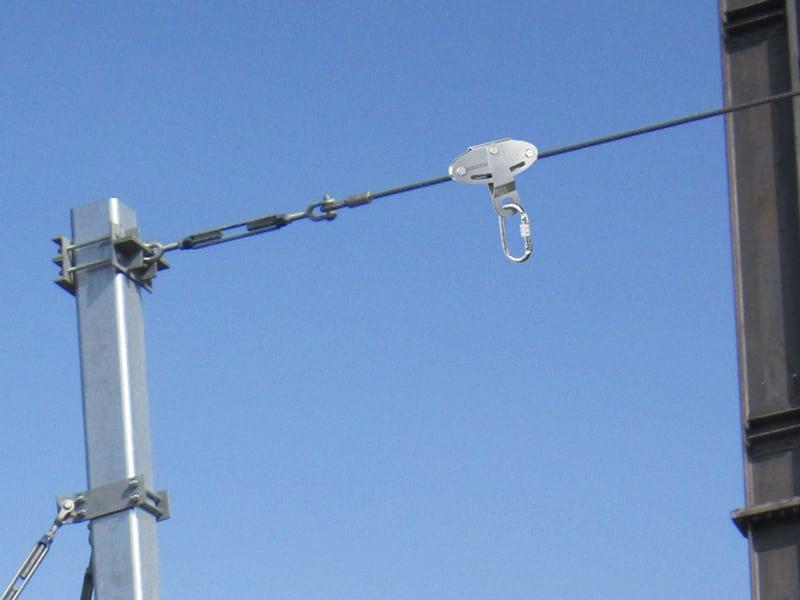 ligne de vie cable avec systeme de sécurité