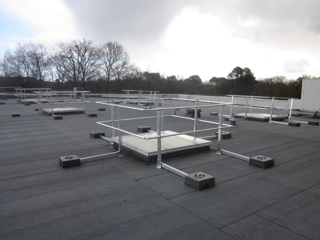 travail en hauteur sur toiture sans risque de chute