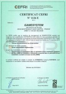 Certification CEFRI - Travail en hauteur en milieu nucléaire